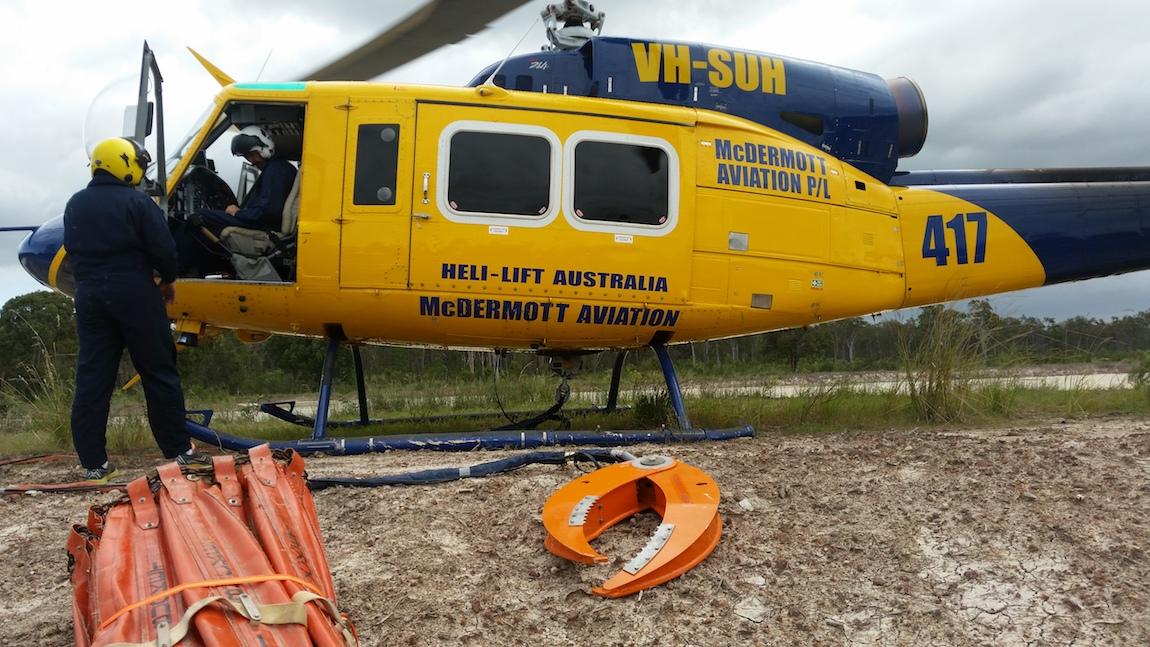 Bell 214 B - Grapple Hook
