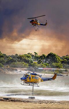 Bell 214 Fire ops