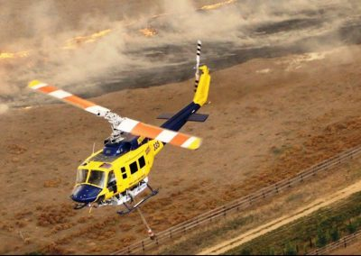 Bell 214 Fire ops - returning for water