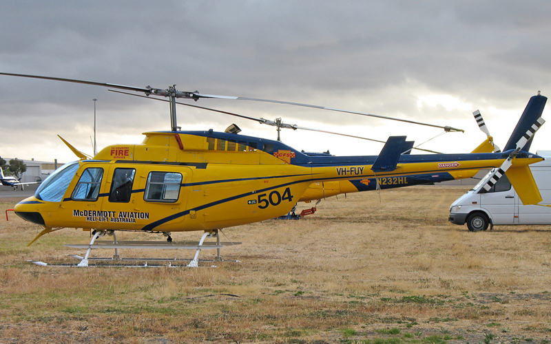 Bell 206L Fire Ops - Air Attack