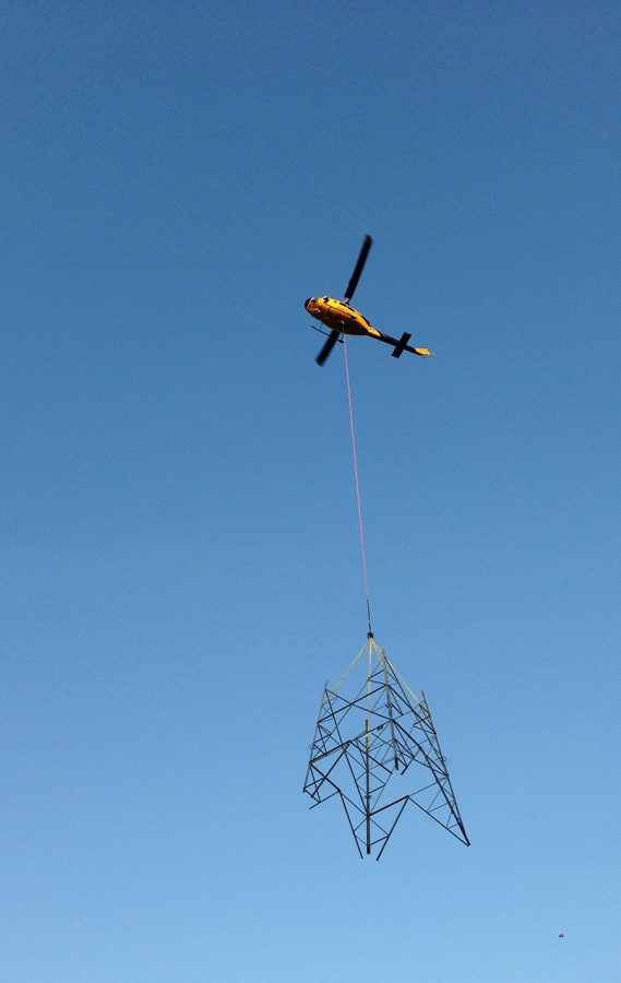 Bell 214 Heli-lift - Tower Construction