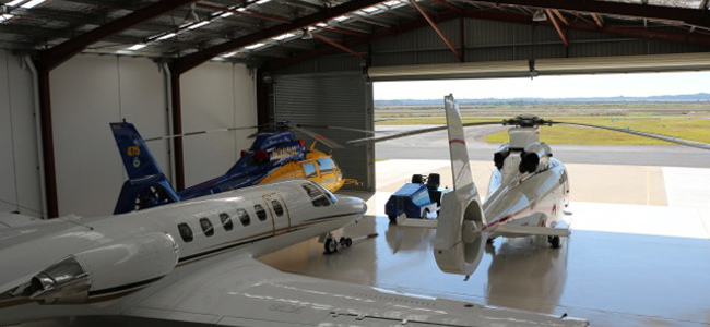 AS365 Dauphin Hangar