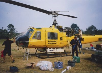 The Early Days - Bell 204 Post Flight Inspection