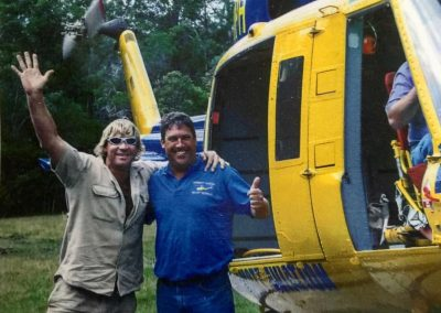 Bell 214 Crocodile Heli-lift - John McDermott and Steve Irwin