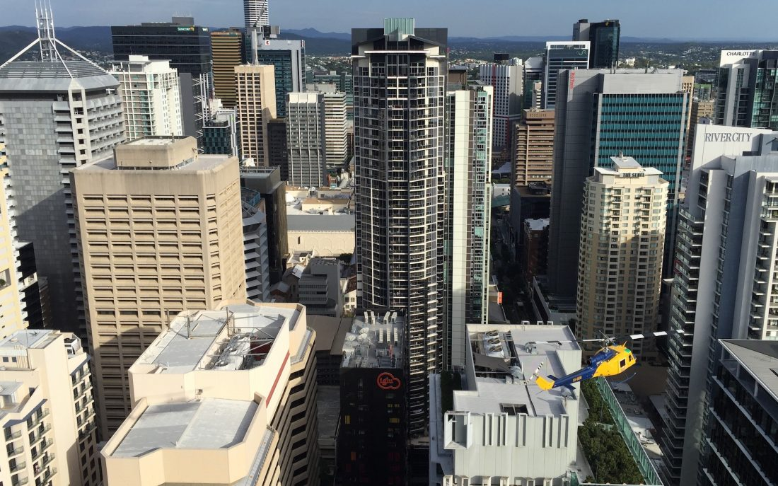 Bell 204 Brisbane CBD Heli-lift