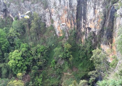 204 Heli-lift - Springbrook Falls Bridge lift