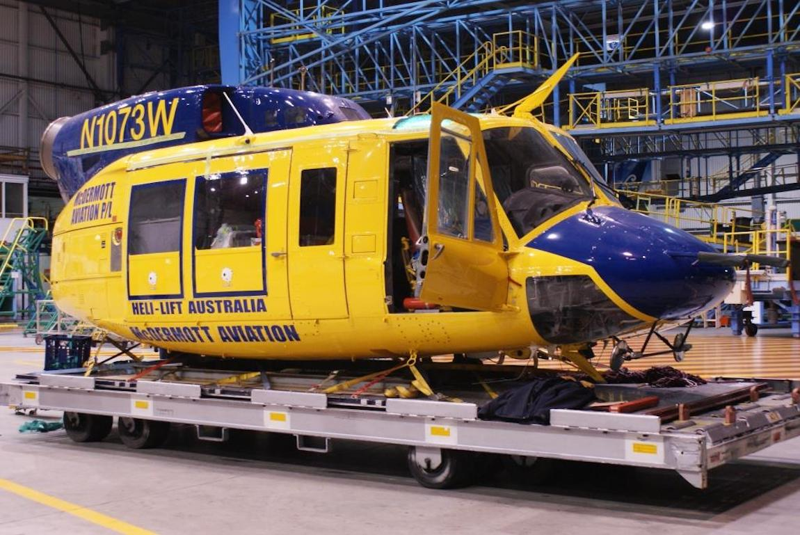 Bell 214 - Ready for transport - New Zealand
