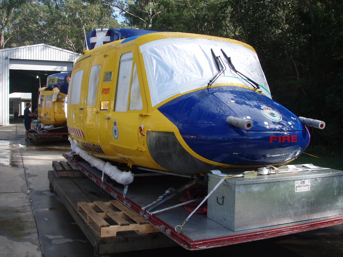 Bell 214's - Ready for transport