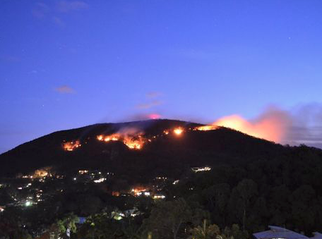 McDermott Aviation tackle the Coolum Fires 'Head on'